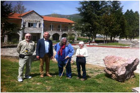 Επίσκεψη καθηγητή γεωλογίας στο Γεωπάρκο