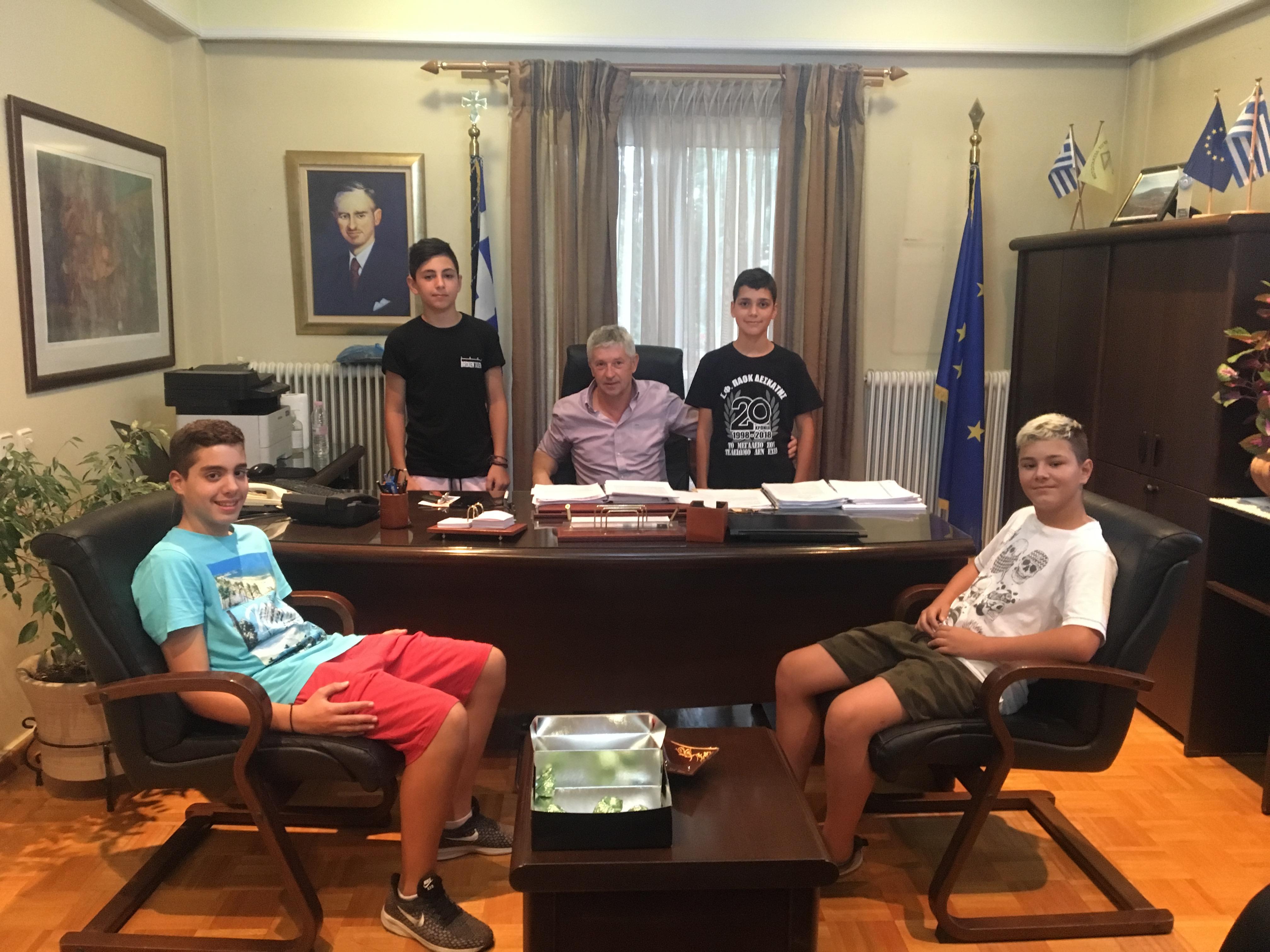Συνάντηση Δημάρχου με μαθητές