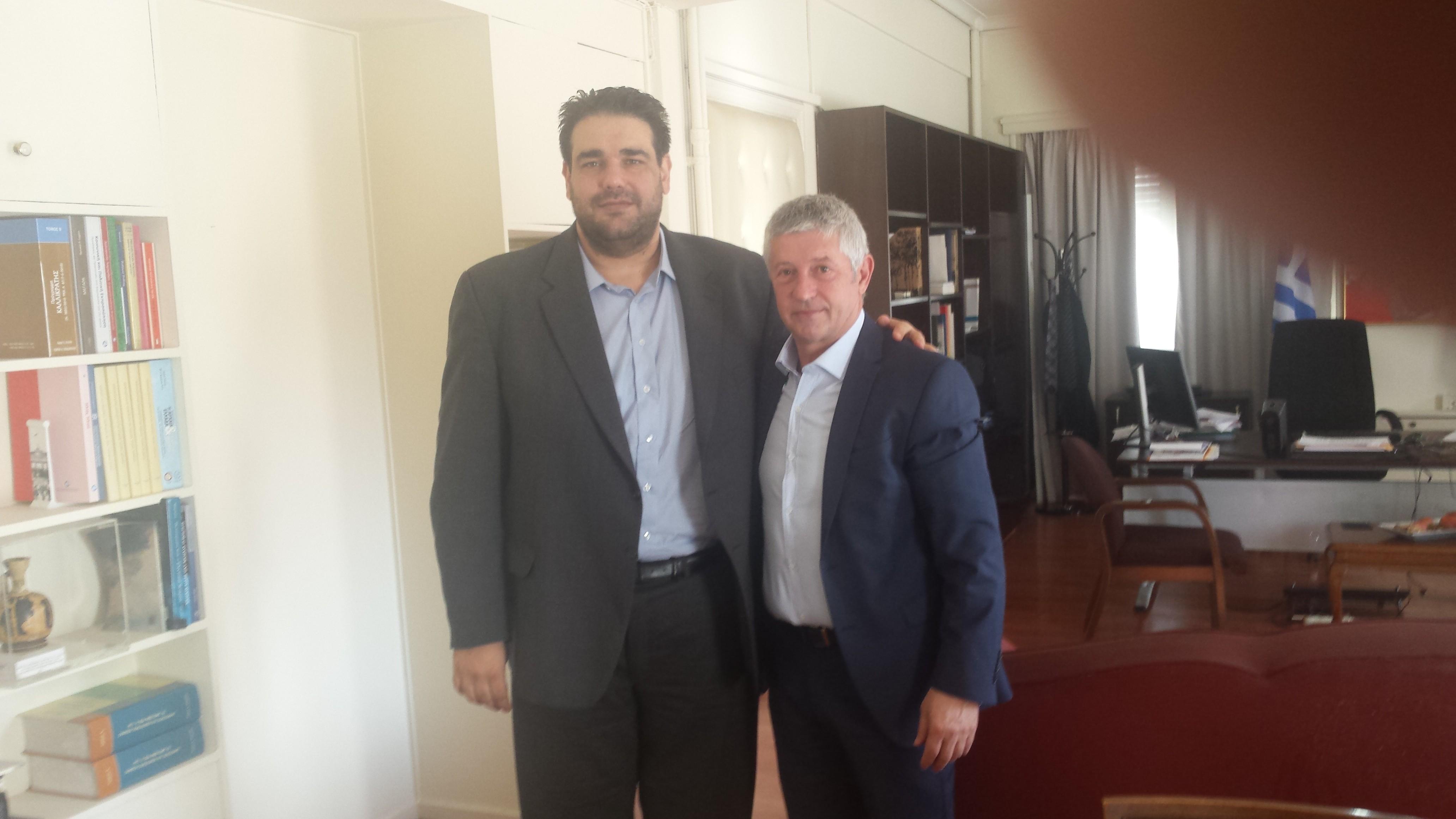 Συνάντηση Δημάρχου με τον κ. Υφυπουργό Εσωτερικών