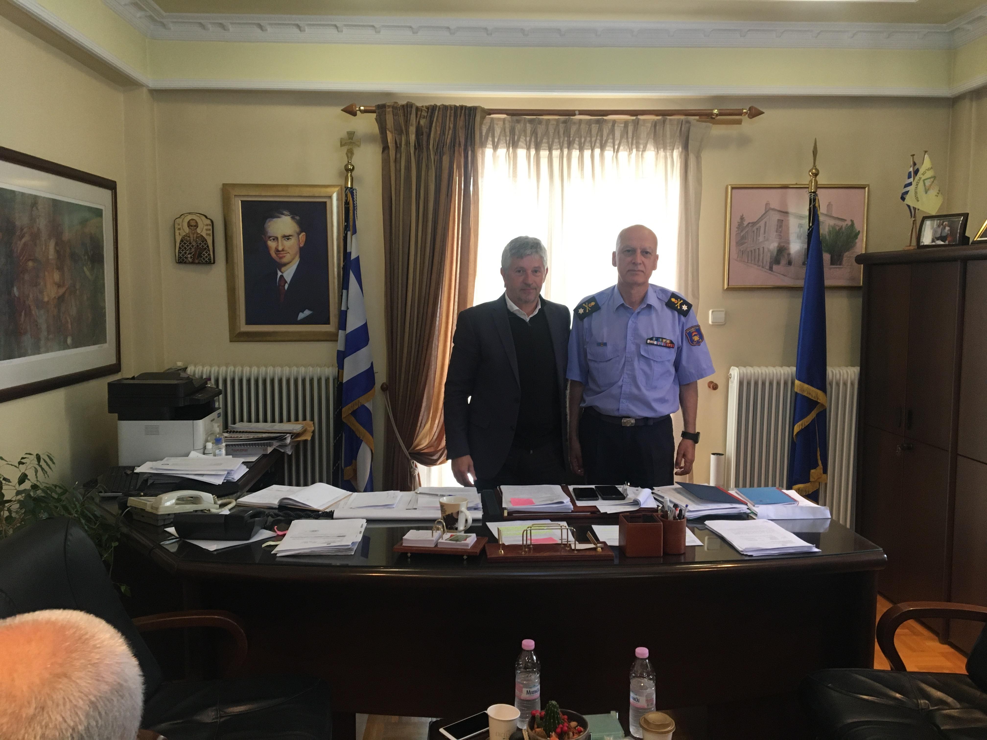 Επίσκεψη Περιφερειακού Διοικητή Πυροσβεστικής Υπηρεσίας