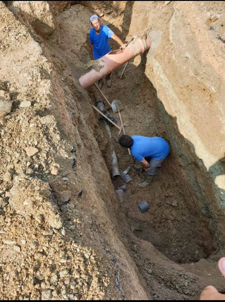 Aποκατάσταση της μεγάλης βλάβης στο δίκτυο ύδρευσης στην περιοχή Κοτίτσα