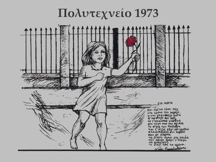 Πολυτεχνείο 17 Νοεμβρίου 1973:<<Aιώνιο το δικαίωμα στην ελευθερία>>